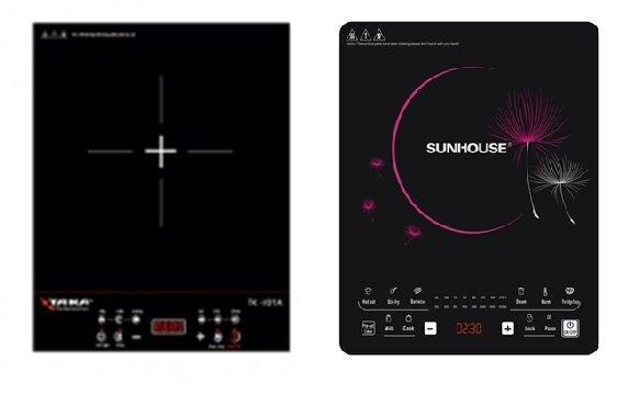 So sánh bếp điện từ Taka TK-I01A và bếp điện từ Sunhouse SHD6862