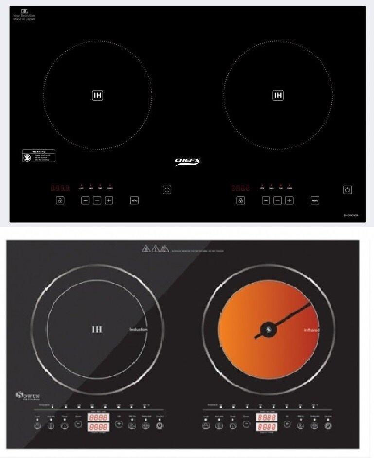 So sánh bếp từ đôi Chefs EH-DIH2000A và bếp đôi Sowun SW-1211