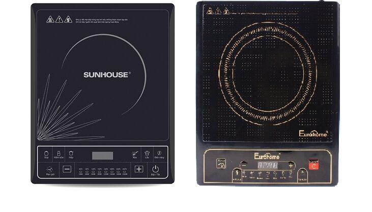 So sánh bếp từ Sunhouse SHD6145 và bếp từ Eurohome EID-223