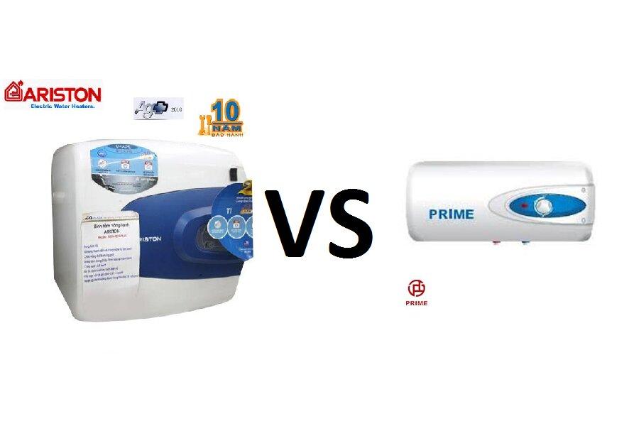 So sánh bình nóng lạnh Prime và bình tắm nóng lạnh Ariston