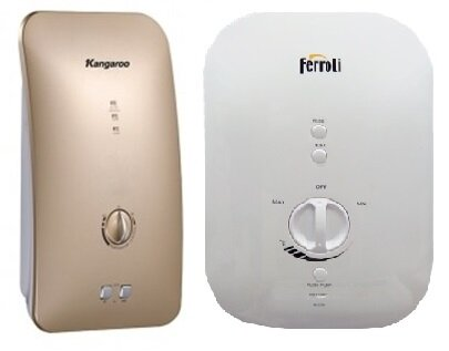 So sánh bình nóng lạnh Kangaroo KG-235 và bình nóng lạnh Ferroli DIVO SDN