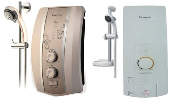 So sánh bình nóng lạnh PowerLux S8000E và bình nóng lạnh Panasonic DH-3HS2VH