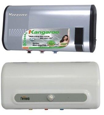 So sánh bình nóng lạnh Kangaroo KG61 và bình nóng lạnh Ferroli QQ 50L M