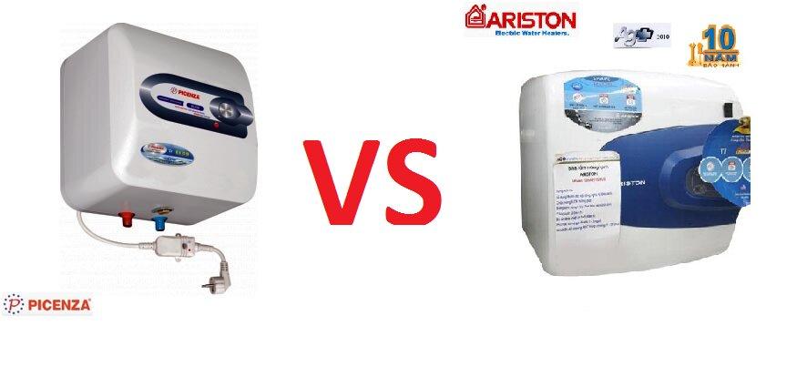 So sánh bình tắm nóng lạnh Picenza và Ariston