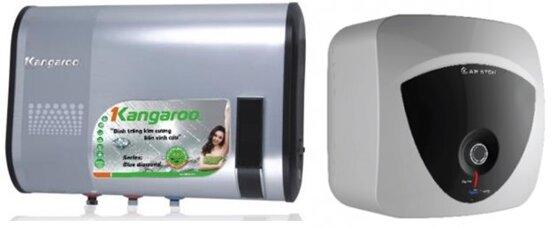 So sánh bình tắm nóng lạnh Kangaroo KG60 và bình nóng lạnh Ariston AN30LUX