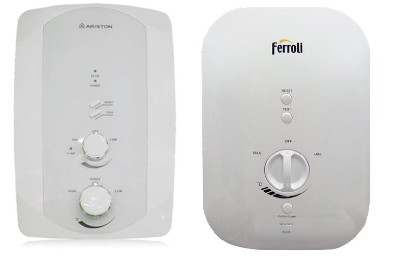 So sánh bình tắm nóng lạnh trực tiếp Ferroli DIVOSDN và bình nóng lạnh Ariston F2-3522E