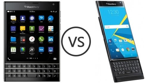 So sánh BlackBerry Passport và BlackBerry Priv