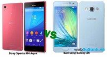 So sánh bộ đôi smartphone tầm trung Galaxy A5 và Xperia M4 Aqua