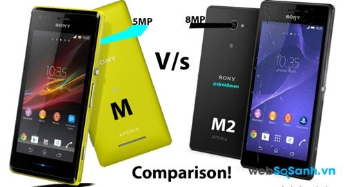 So sánh bộ đôi smartphone Xperia M và Xperia M2 Aqua