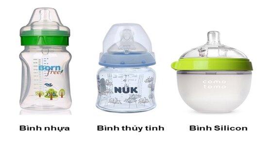 So sánh các chất liệu bình sữa nhựa hiện nay