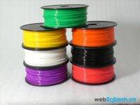 So sánh các chất liệu sợi nhựa in dành cho máy in 3D