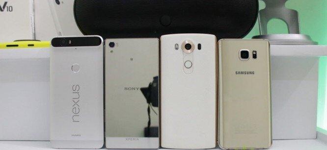 So sánh camera điện thoại Xperia Z5 Premium, LG V10, Nexus 6P và Galaxy Note 5