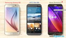 So sánh cấu hình camera của Galaxy S6, HTC One M9 và Asus Zenfone 2