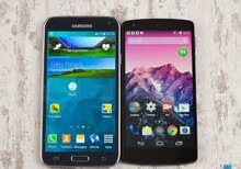 So sánh cấu hình và thiết kế của Samsung Galaxy S5 với Google Nexus 6