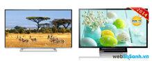 So sánh chi tiết Tivi LED SONY KDL-32R410B VN3 và Smart TV LED Toshiba 32L5450VN