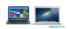So sánh Dell XPS 13 (2014) và Macbook Air (2013)