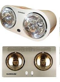 So sánh đèn sưởi DuraQua DBA1C và đèn sưởi nhà tắm Sunhouse SHD3802