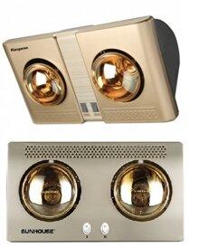 So sánh đèn sưởi Kangaroo KG247 và đèn sưởi nhà tắm Sunhouse SHD3802