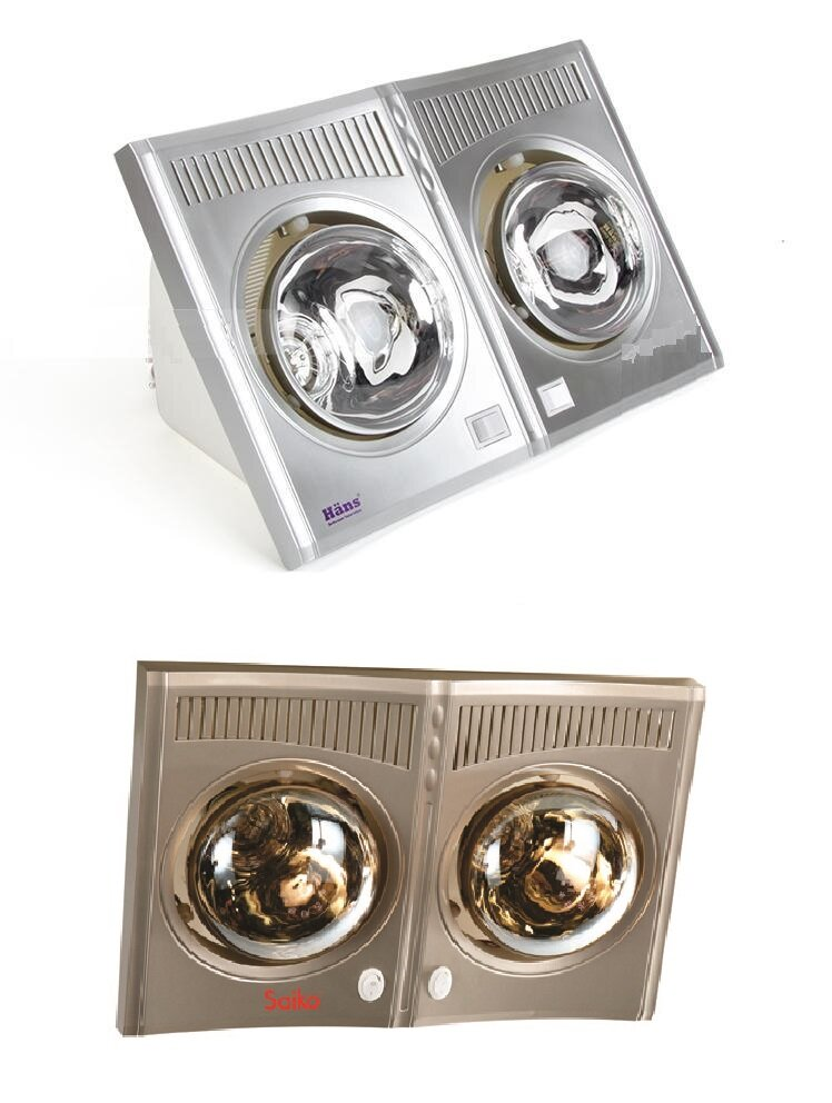 So sánh đèn sưởi nhà tắm Hans H2B và đèn sưởi nhà tắm Saiko BH-550H