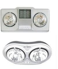 So sánh đèn sưởi nhà tắm Hans H2B-HW và đèn sưởi nhà tắm Midea