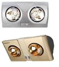 So sánh đèn sưởi nhà tắm Hans H2B-HW và đèn sưởi Kangaroo KG247