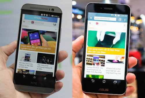 So sánh điện thoại Asus PadFone S và HTC One E8