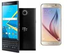 So sánh điện thoại BlackBerry Priv và Samsung Galaxy S6