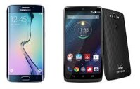 So sánh điện thoại điện thoại Samsung Galaxy S6 Edge+ và Motorola DROID Turbo
