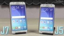 So sánh điện thoại Galaxy J5 và Galaxy J7: Sự khác biệt là gì?