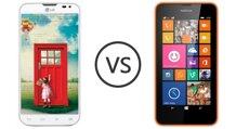 So sánh điện thoại giá rẻ Nokia Lumia 630 và LG L70 Dual