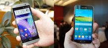 So sánh điện thoại HTC One 802 và Samsung Galaxy S5