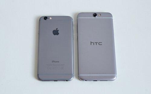 So sánh điện thoại HTC One A9 và iPhone 6