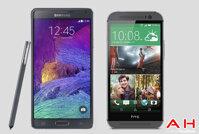 So sánh điện thoại HTC One A9 và Samsung Galaxy Note 4