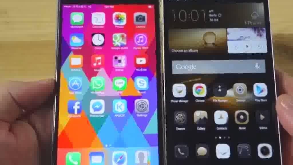 So sánh điện thoại Huawei G7 Plus và iPhone 6