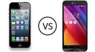 So sánh điện thoại iPhone 5s và Asus Zenfone Selfie