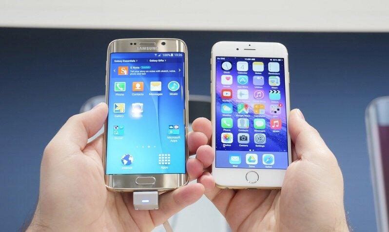 So sánh điện thoại iPhone 6s và Samsung Galaxy S6 Edge