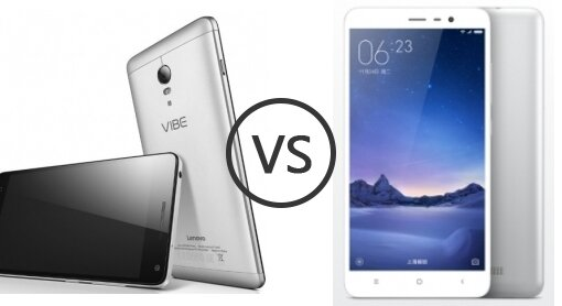 So sánh điện thoại Lenovo Vibe P1 và Xiaomi Redmi Note 3