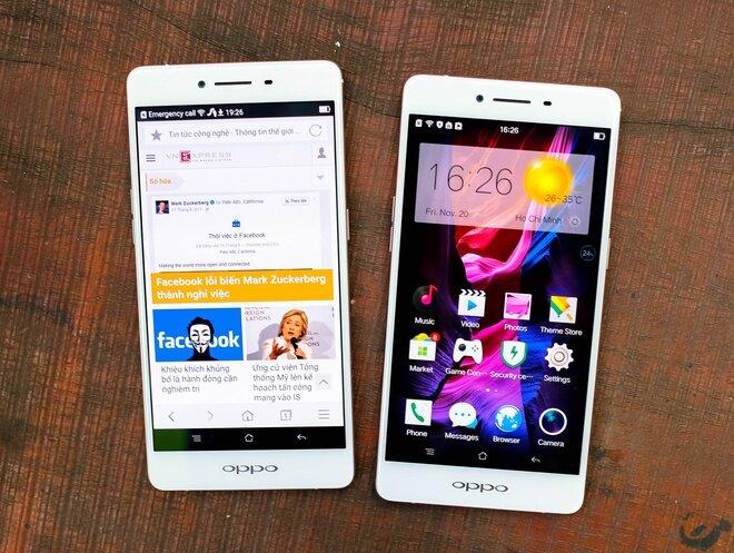 So sánh điện thoại LG G5 và Oppo R7s
