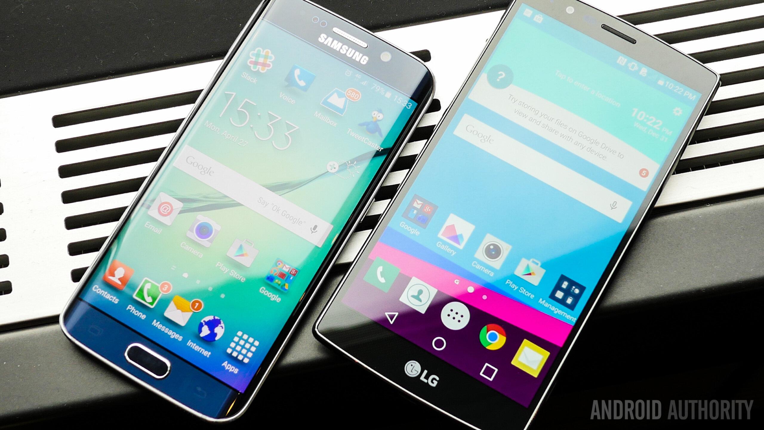 So sánh điện thoại LG G5 và Samsung Galaxy S6 Edge