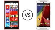 So sánh điện thoại Moto G (2015) và Nokia Lumia 1520
