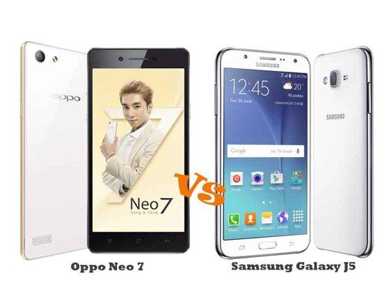 So sánh điện thoại Oppo Neo 7 và Samsung Galaxy J5