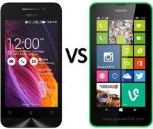So sánh điện thoại thông minh Asus Zenfone 2 Laser và Nokia Lumia 630