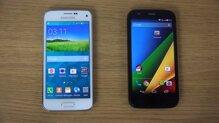 So sánh điện thoại thông minh Moto G (2015) và Samsung Galaxy S5