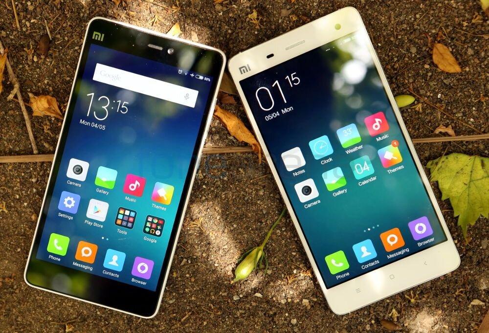 So sánh điện thoại Xiaomi Redmi Note 2 và Xiaomi Mi 4i
