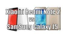 So sánh điện thoại Xiaomi Redmi Note 2 và Samsung Galaxy J5