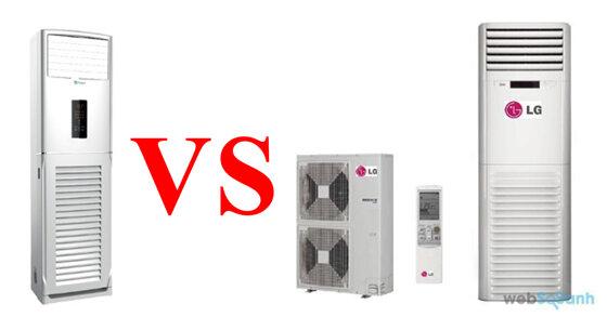 So sánh điều hòa cây Casper và LG – điều hòa tủ đứng nào đáng mua hơn ?
