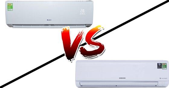 So sánh điều hòa Gree 18000BTU GWC18QD-E3NNB2A và điều hòa Samsung 18000BTU AR18MVFHGWKNSV Inverter