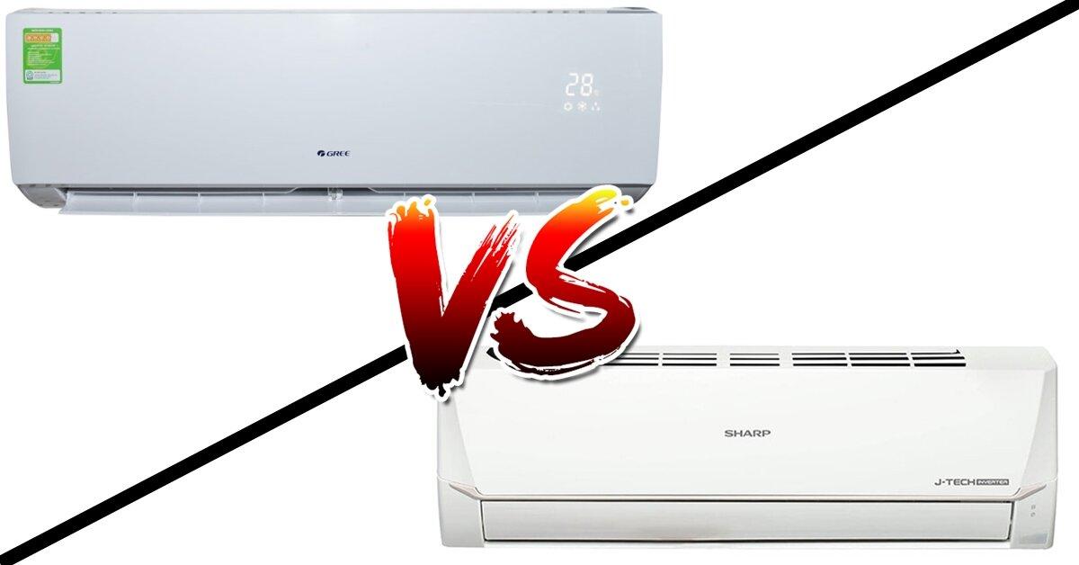 So sánh điều hòa Gree 18000BTU GWC18QD-E3NNB2A và điều hòa Sharp 18000BTU AH-X18VEW Inverter