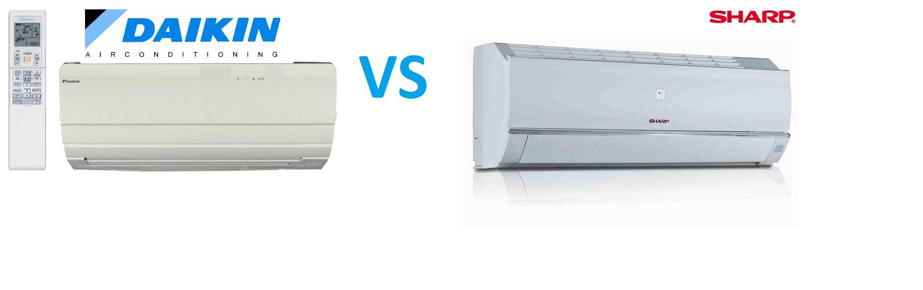 So sánh điều hòa máy lạnh Sharp và điều hòa máy lạnh Daikin