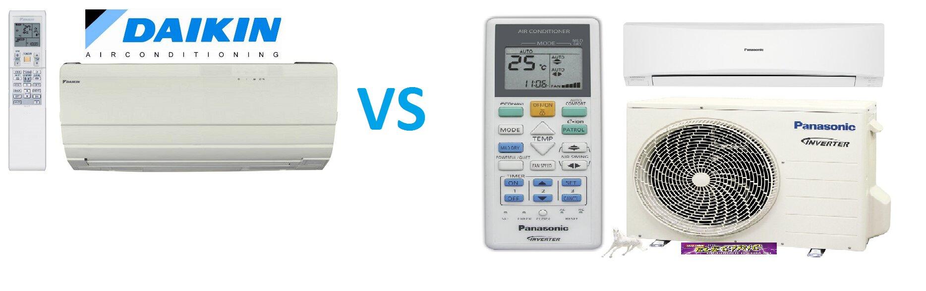 So sánh điều hòa máy lạnh Panasonic và điều hòa máy lạnh Daikin